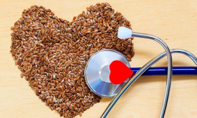 семена льна как профилактика от сердечных заболеваний