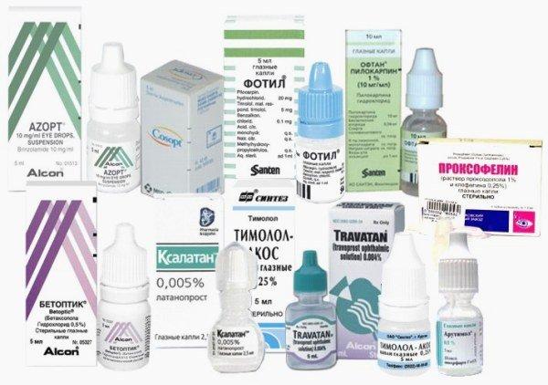 Препараты при внутриглазном давлении