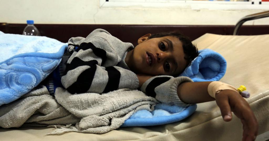 Больной холерой ребенок