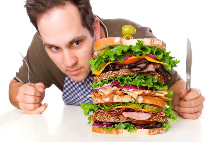 Человек, много кушающий