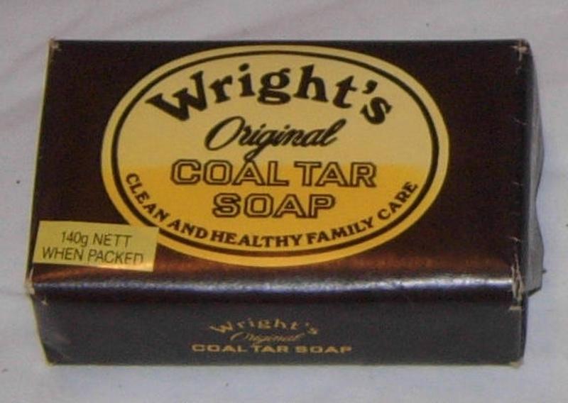 Дегтярное мыло в упаковке.
