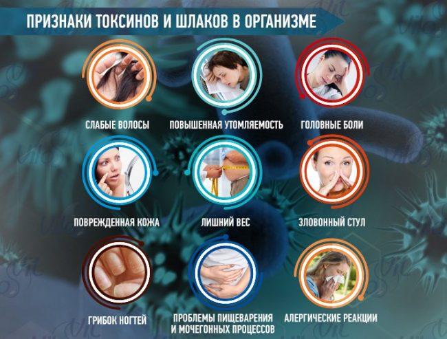 симптомы токсинов в организме