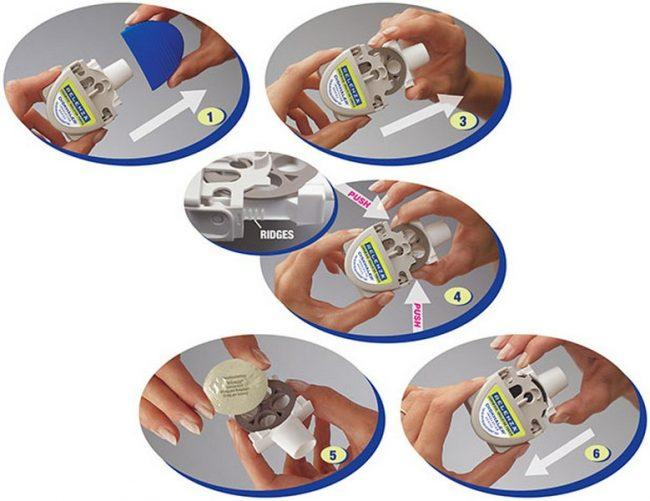 подготовка к использованию ингалятора от Реленза