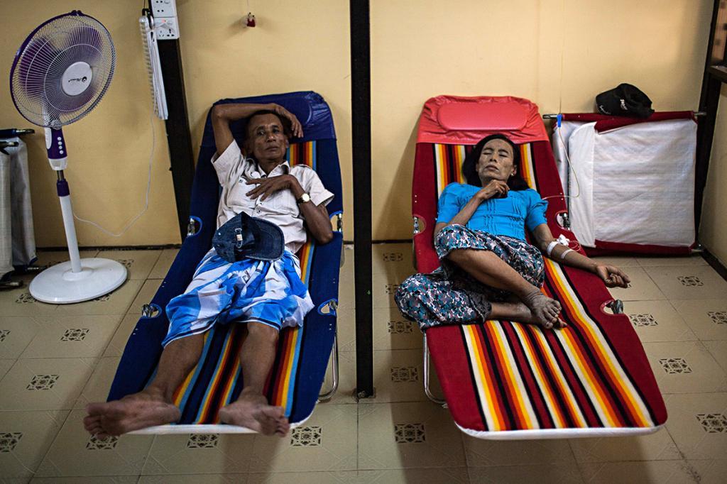 Пациенты хосписа для больных ВИЧ