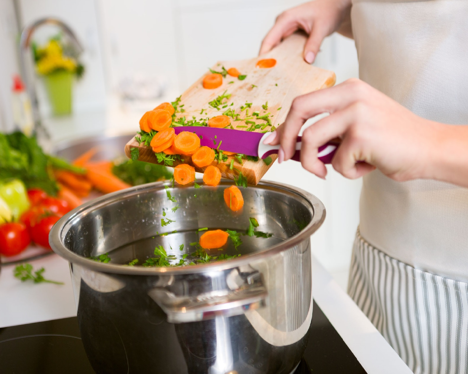 Приготовления овощей