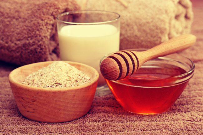 отруби с молоком и медом