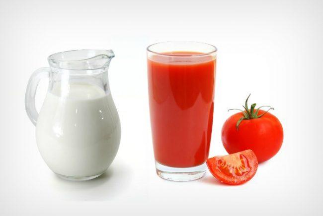 кефир и томатный сок